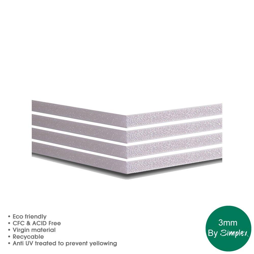 Foam Board 3MM, White, 15 Sheets, A4 / A3 / A2 / A1 / A0 / 40 x 60 / 48 x 96 (A0) Simplex