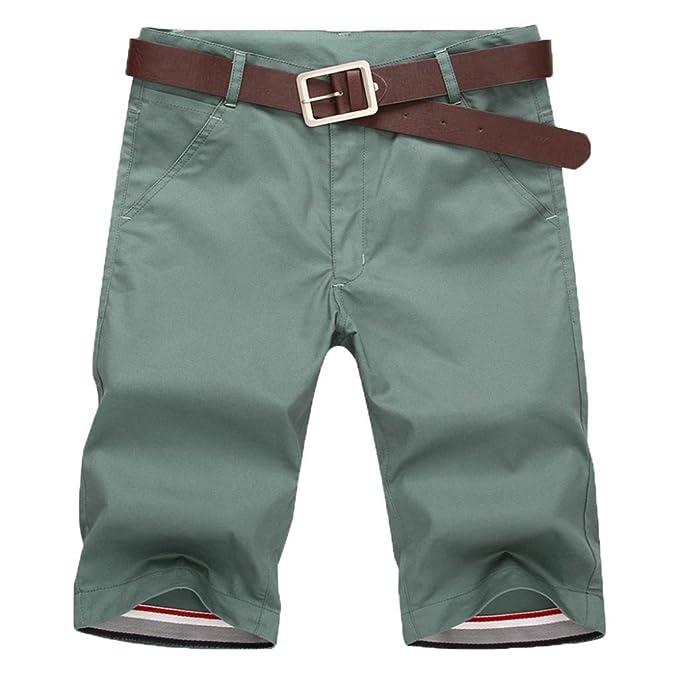 BYSTE Shorts da Uomo,Pantaloncini Cargo con Tasche, Estate Bermuda da uomo  in cotone