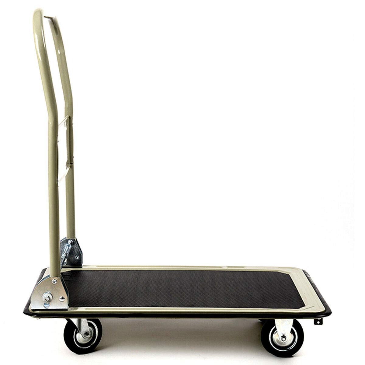Gray 330lbs Platform Cart Folding Foldable Dolly Push Hand Truck Moving Warehouse Transport Heavy Large Loads(U.S. Stock) by Heize best price (Image #7)
