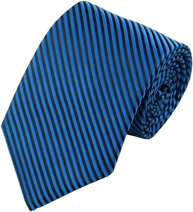 CDBGPZLD Corbatas Para Hombres De Negocios Jacquard Seda Azul ...