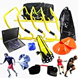 NEW TEAM SPEED AGILITY & QUICKNESS Training Kit with Instructional DVD | High School & College | Hockey, Basketball, Soccer, Football, Supports All Sports | Hurdles, Ladder, Power Resistor, & MORE!