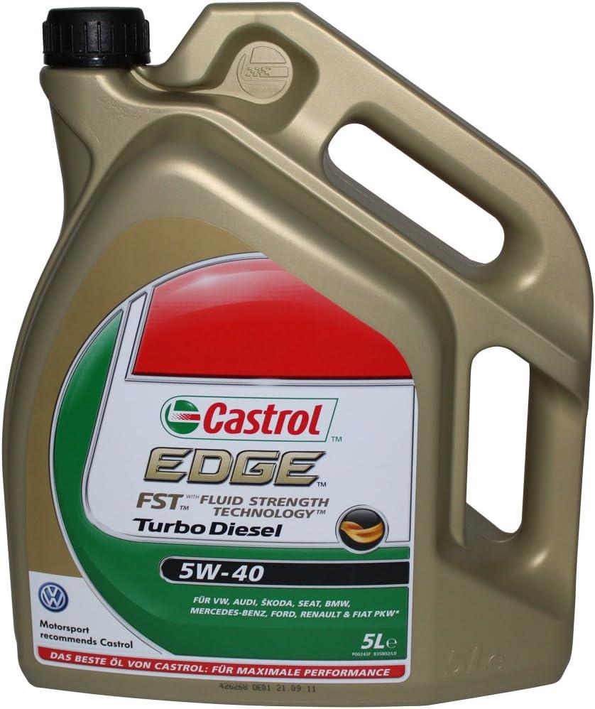 Castrol Edge Turbo Diesel Sae 5w 40 5 Liter Vom Hersteller Eingestellt Auto
