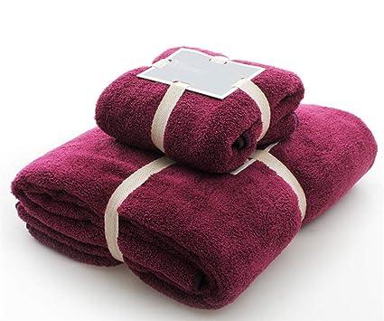 Toallas de baño de algodón 2 piezas de toallas Set 1 Toallas de baño 1 Toallita ...