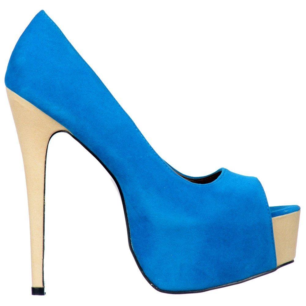 c0d0156d85e Amazon.com   Onlineshoe Women's Two Tone High Heels Concealed ...