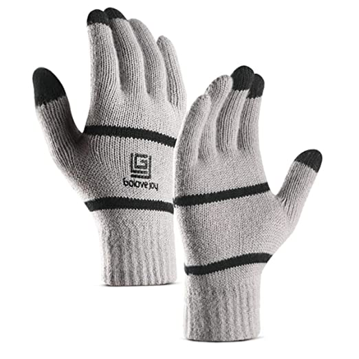 e3b69594f Cevapro Winter Warm Knit Gloves, Touchscreen Wool Lining Gloves for Women  Men Boy Girls in