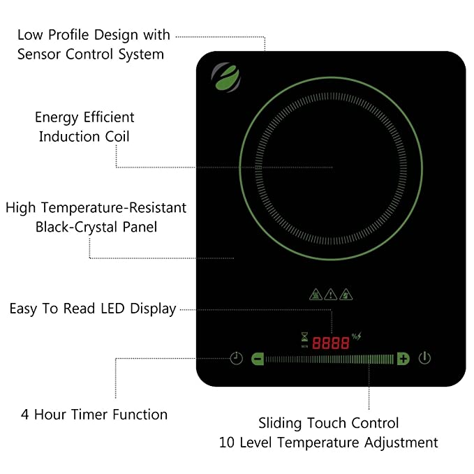 Amazon.com: eco4us – Inducción, Vitrocerámicas, portátil ...