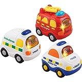 Vtech – Toot Toot Drivers – Emergency Vehicles – Coffret de 3 Véhicules Parlant Anglais (Import UK)