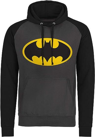 Officially Licensed Batman Signal Logo Baseball Hoodie S-XXL Sizes