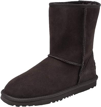 Shenduo Bottes fourrées de Mouton Femme imperméable, Boots Hiver Cuir Mi Mollet Doublure Chaude de Laine D9125