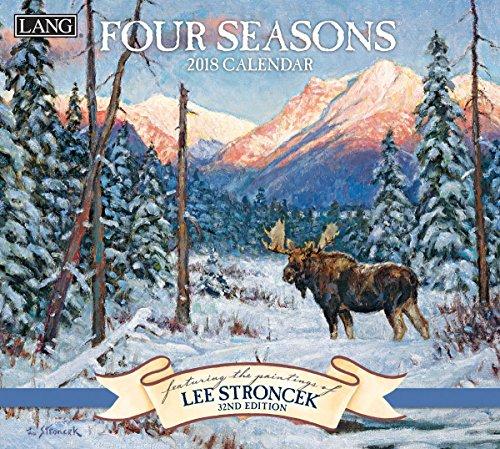 "LANG - 2018 Wall Calendar - ""Four Seasons"", Artwork by Lee Stroncek - 12 Month - Open 13 3/8"" X 24"""
