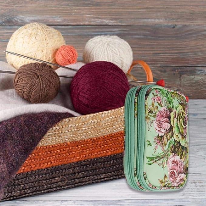 Juego de costura funda para agujas de punto y ganchillo, estuche organizador, accesorios de costura, agujas, agujas de tejer, aguja de ganchillo, bolsa de aguja, accesorios de punto: Amazon.es: Bricolaje y herramientas