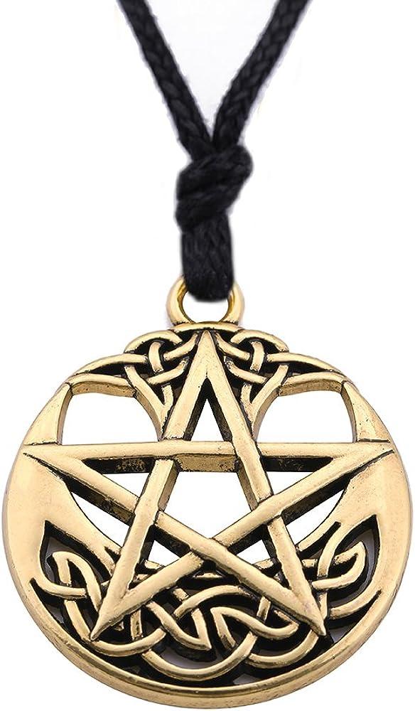 Euevan Collier avec pendentif pentacle celtique pour amour
