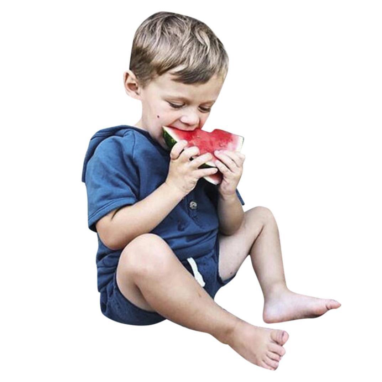 Culater 2018 novità PA Pigiama Bimbo da bambinoT-Shirt Stampata a Pois Fantasia + Pantaloncini Estivi Spiaggia❤️❤ Completo Abiti da 2 PZ per Bambini MK-1203