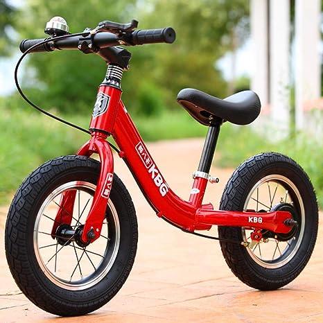 Bicicletas sin Pedales 12 Bici sin Pedales Color Bicicleta de Blalance Equilibrio Altura Ajustable Balance Infantil de 12 Pulgadas Inflable Rodillo yo Coche Rojo_12: Amazon.es: Deportes y aire libre