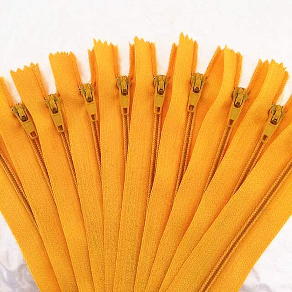 YTJY 60pcs 3#20cm nylon coil zipper tailor sewer craft Crafter/&FGDQRS 20 colors 8 inch Yellow