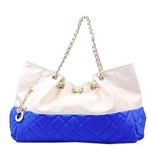 Women Girl Cool Oversized Shoulder Bag Handbag Chain Straps Candy Color Top  Tote (Big 21298459c5cb1