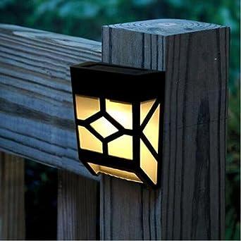 Solar de Deck de luces de pared Montaje Agua Densidad Sensor de luz Luz nocturna lámpara
