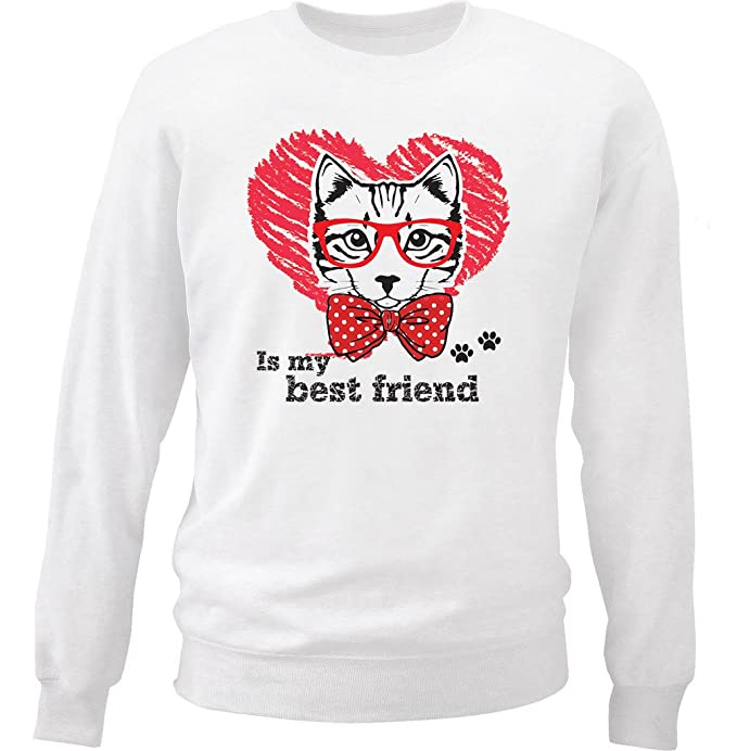 teesquare1st Cat IS MY Best Friend Sudadera: Amazon.es: Ropa y accesorios