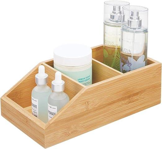 mDesign Caja organizadora con 3 compartimentos – Gran cajón de ...