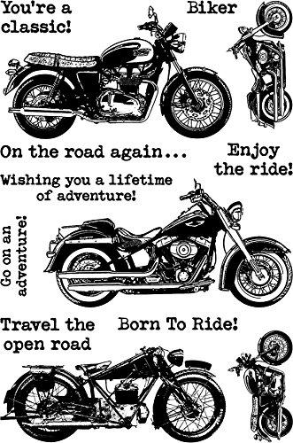 Darkroom Door Cling Stamps 7x5-Classic Motorcycle by Darkroom Door