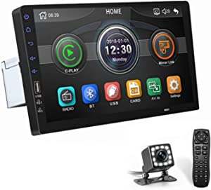 ASTSH 9 Inch Single Din Car Stereo 1080P Car Radio Touch Screen with with Mirror Link Backup Camera Bluetooth FM Radio AUX/USB/TF MP3/MP4/MP5 Player