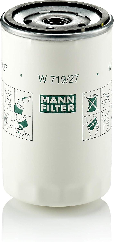 MANN-FILTER W 719/27 Original Filtro de Aceite, Para automóviles y vehículos de utilidad