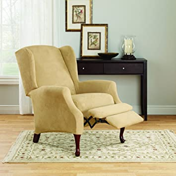 Amazon.com: Sure Fit funda para asiento y silla reclinable ...