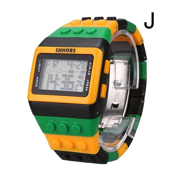 Unisex Colorful Digital muñeca pulsera de reloj resistente al agua reloj Digital para Hombres Mujeres Reloj De Pulsera Impermeable Natación Frozen reloj ...