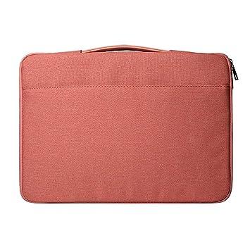 LEEQ Bolso Bandolera para Ordenador portátil, Organizador de Documentos, Escuela, Oficina, Color Rosa(Rosa ): Amazon.es: Hogar