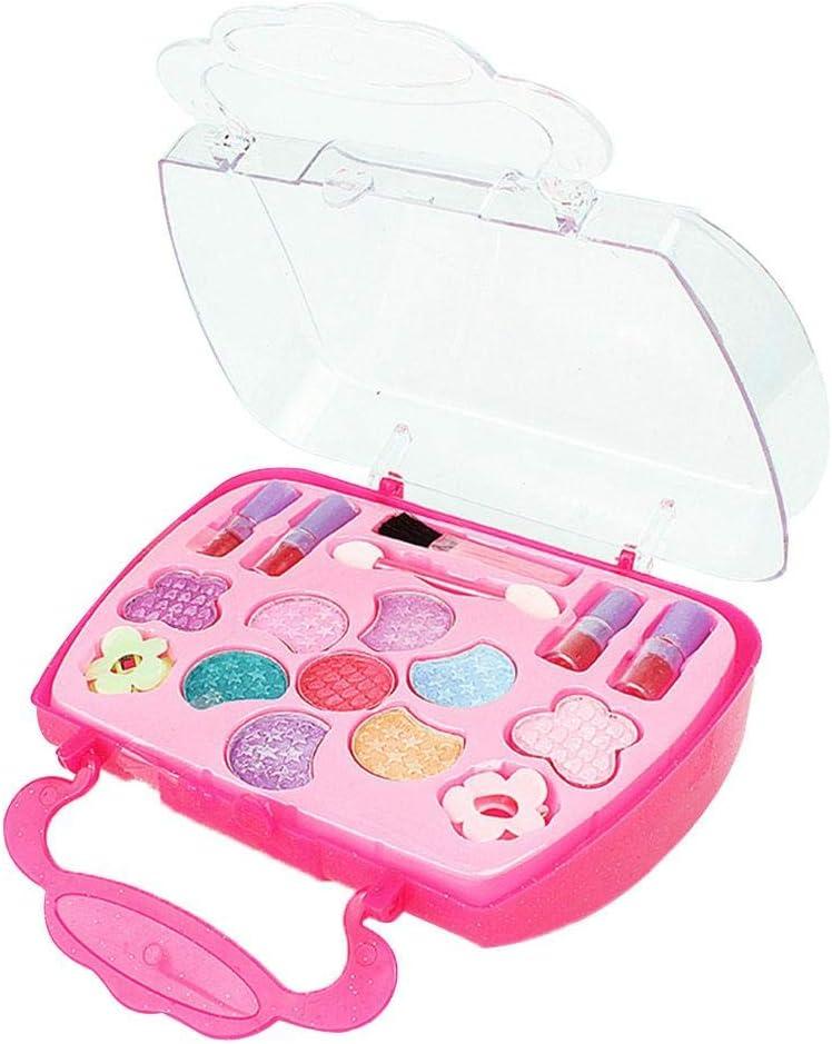 Rollenspiel Spielzeug Schminkset kinderfön 2 in 1 Set Vielen Zubehör für Mädchen