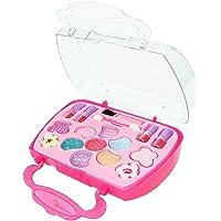 Awhao Children's Cosmetics Princess Makeup Box Set Safe Non-Toxic Girl Makeup Kit for Kids