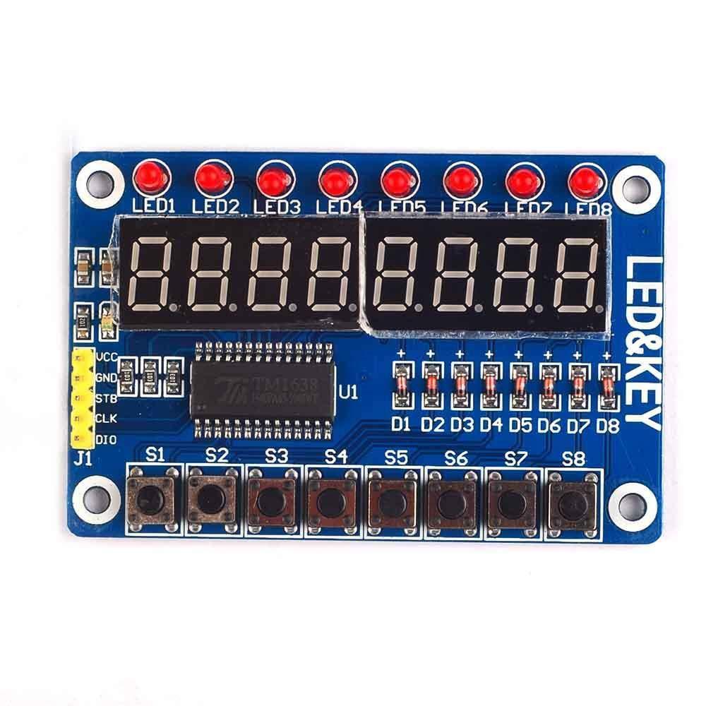 Ximimark 2PCS 8-Bit LED Digital Tube 8 Keys TM1638 Display Module for AVR Arduino ARM