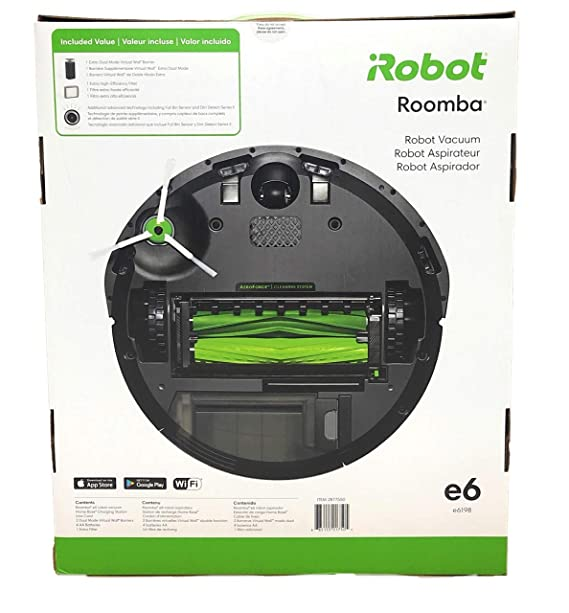 iRobot Roomba e6 6198 Wi-Fi Connected Robot Vacuum