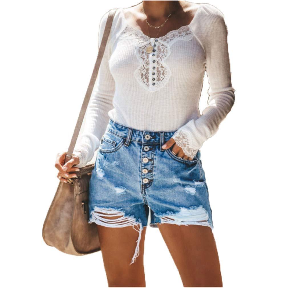 Yying Pantalones Cortos Para Mujeres Color Solido Shorts De Mezclilla Moda Cintura Alta Shorts Casual Denim Shorts Jeans Con Bolsillos S 3xl Creeo Com Br