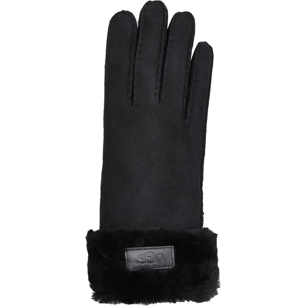 UGG Tenney Logo Glove (Medium, Black)