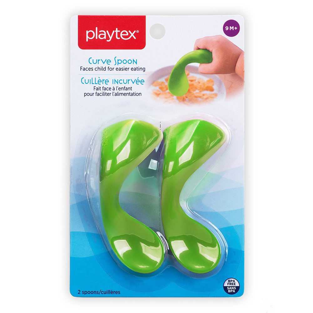 Playtex Baby BPA-Free Kids Curved Training Spoon, Pack of 2 Edgewell Personal Care 10078300024863