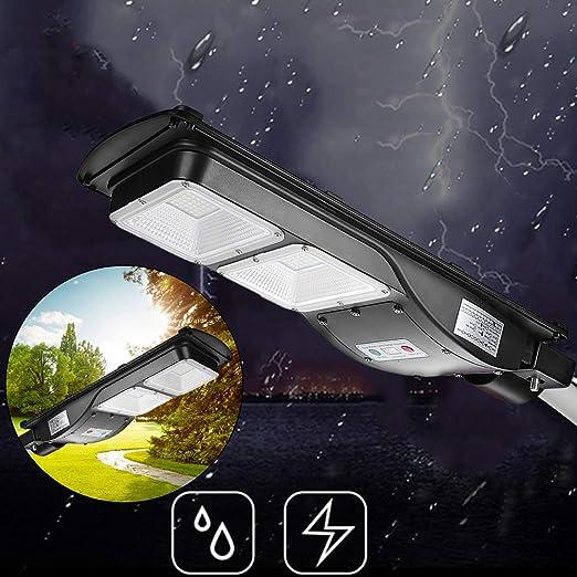 GOTOTP Farola Solar de 120 LED de Seguridad con Control Remoto Impermeable IP65 5500K Focos LED Exterior Solar de Pared con Sensor Crepuscular 60W: Amazon.es: Jardín