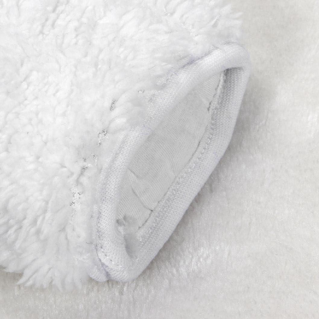 TM Size:6M, White Newborn Baby Boys Girls Fleece Winter Rabbit Bear Romper nowsuit SunWard