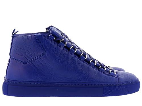 Balenciaga Hombre 412380WAY404362 Azul Cuero Zapatillas Altas: Amazon.es: Zapatos y complementos
