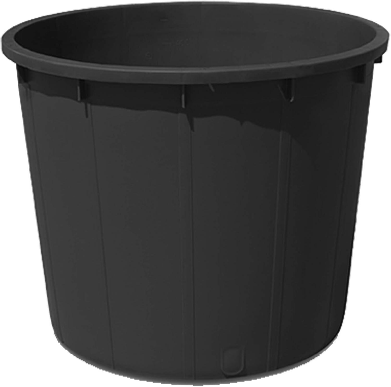 MAC CALF Mastella Tondo Colore Nero 500 Litri idoneo per Contatto Alimentare Vendemmia o vinificazione Materiale di Prima Scelta