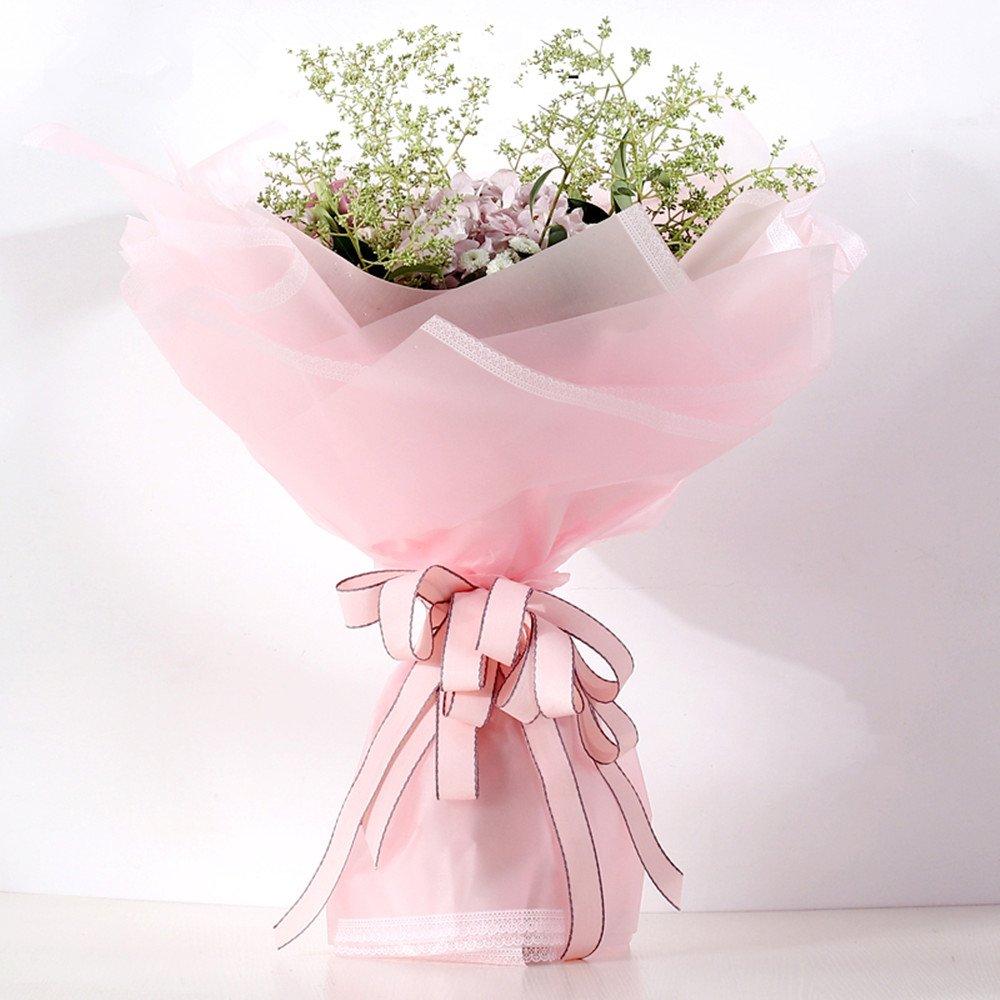 Amazon Freedi 20 Pcs Half Clear Flower Wrapping Paper