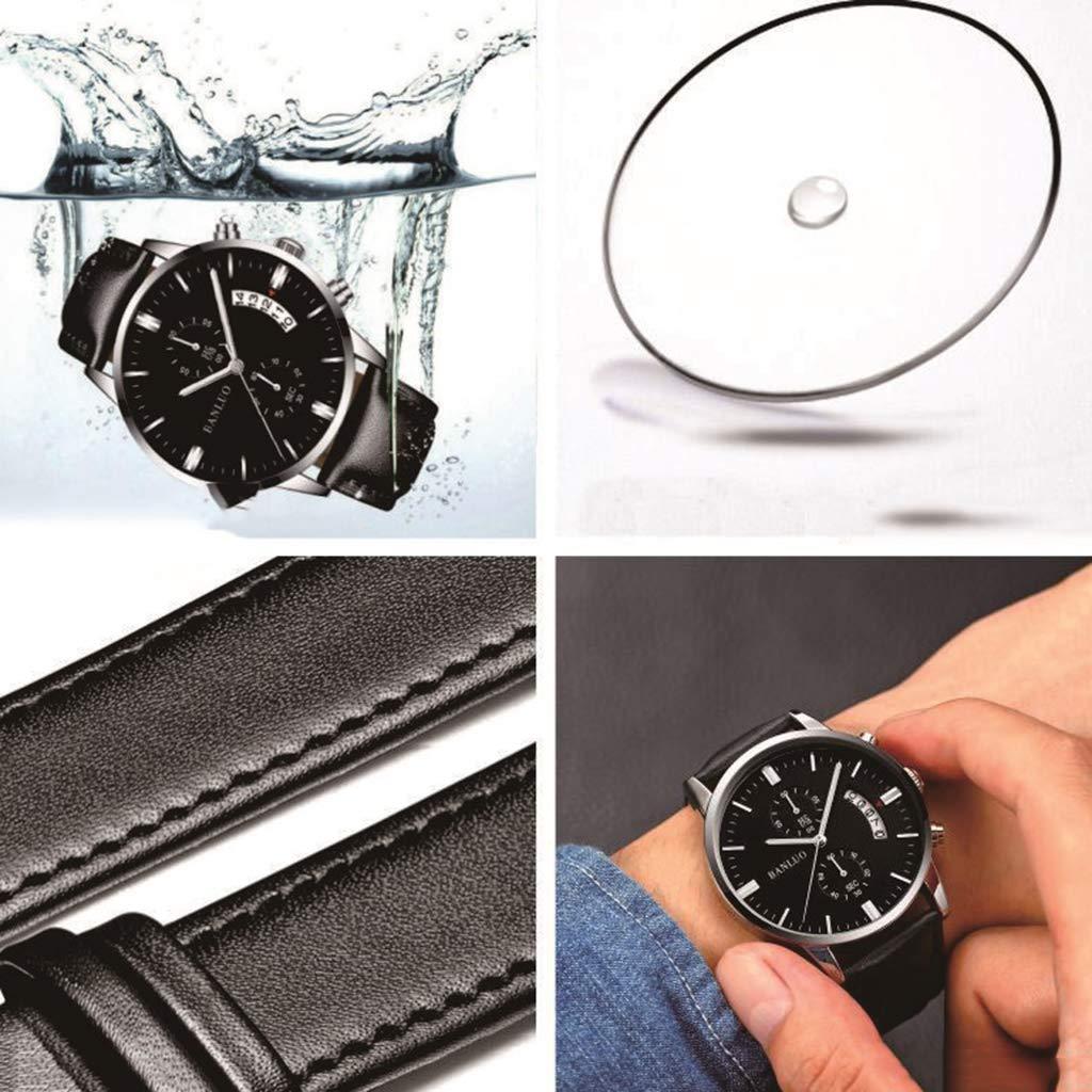 ... Negocios Relojes De Cuarzo De Lujo Relojes De Cuero De Acero Inoxidable A Prueba De Agua Relojes Inteligentes Y Luminosos Regalos para Hombres Y Mujeres ...
