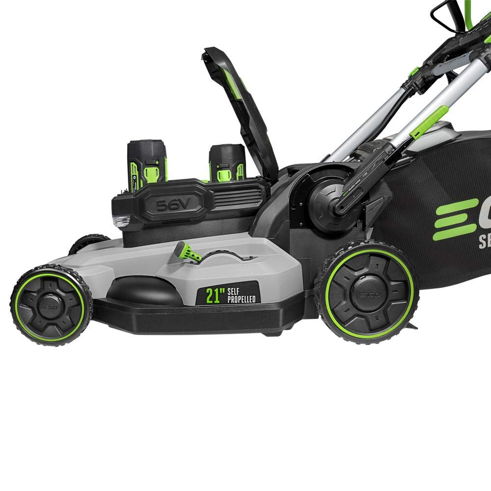 EGO 21 in. 56-Volt Lith-ion Electric Cordless Poly Deck Dual-Port Self Propelled Walk Behind Mower 2X 5.0Ah Batteries