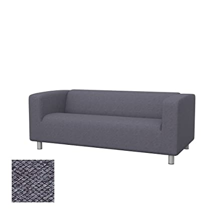 Soferia - Replacement cover for IKEA KLIPPAN 2-seat sofa, Nordic Anthracite