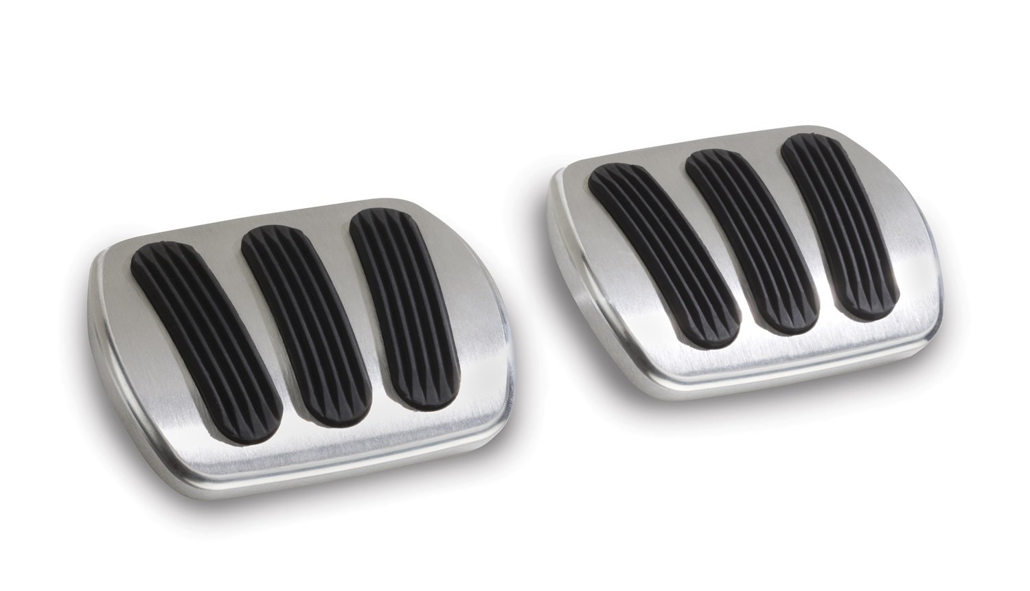 Lokar BAG-6136 Billet Aluminum Curved Brake/Clutch Pad with Rubber - Pair