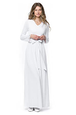 89d384975ea ModWhite Rose White Temple Dress at Amazon Women s Clothing store