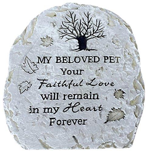 Pet Memorial Stone Plaque - Flagstone - Pet Memorial Marker reads