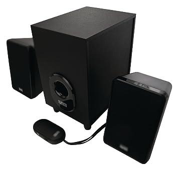 Eurosell altavoz Sistema de sonido 2.1 sistema para PC Ordenador Portátil Notebook Box Cajas Con Subwoofer Negro Altavoz Sistema Clavija de 3,5 mm: ...