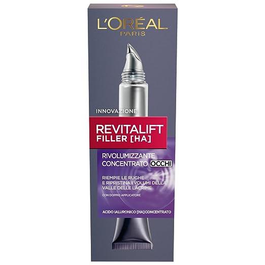 4 opinioni per L'Oréal Paris Revitalift Filler Crema Rivolumizzante Concentrato Occhi 15 ml