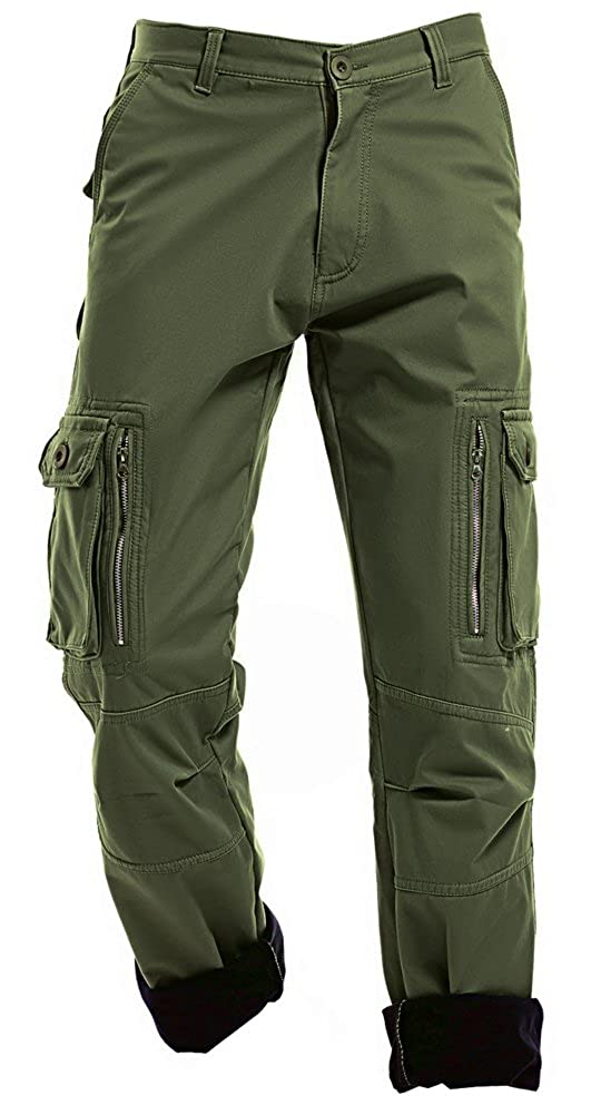 f32a89a2 AIZESI Men\'s Winter Warm Fleeced Cotton Military Army Cargo Combat Pants  Trousers,the trousers are very warm with fleece inside, it\'s suitable for  cold ...